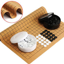 Weiqi – jeu d'échecs et de soirée professionnel, 361 pièces, avec feuille en cuir suédé, jeu chinois amusant pour enfants