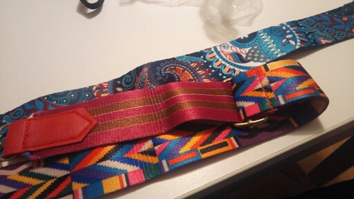 Women Lady Colorful Cotton Boho Chain Rivet Strap Belt for Shoulder Bag Handbag wholesale A9 photo review