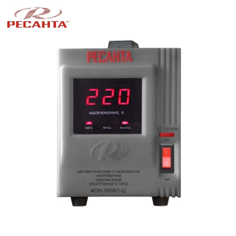 Single phase voltage stabilizer RESANTA ASN-1000/1-C Relay type Voltage regulator Monophase Mains stabilizer Surge protect voltage stabilizer energy asn 1000