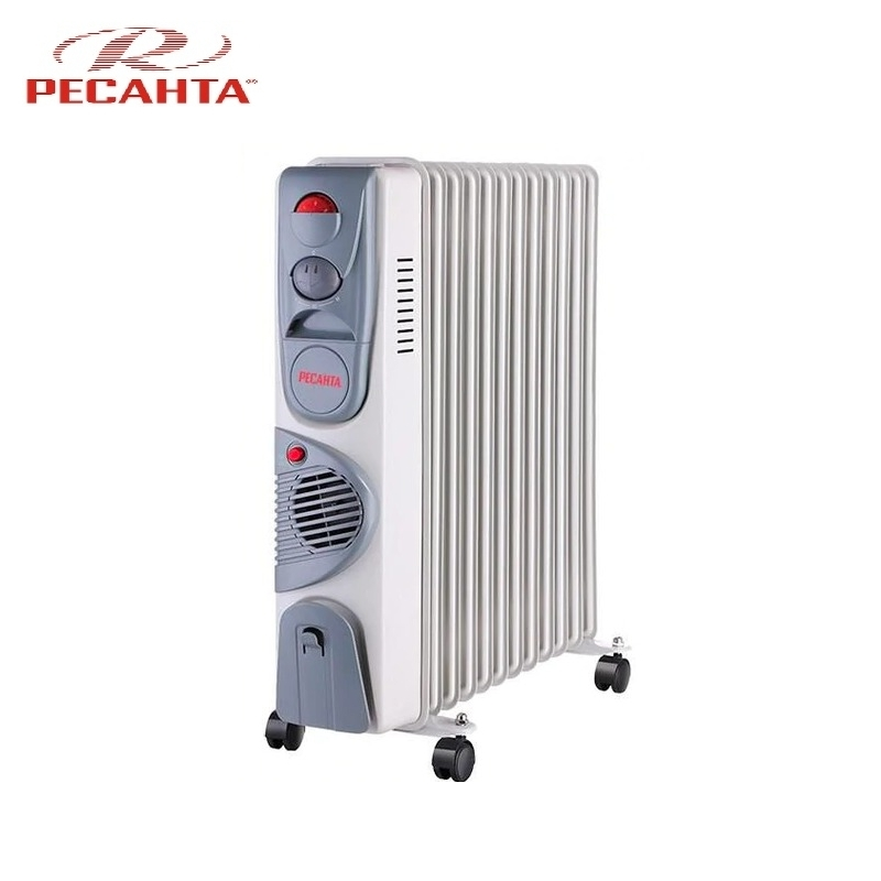 Oil radiator RESANTA OM-12NV Air heating Oil heater Space heating Oil filled radiator Sectional radiator