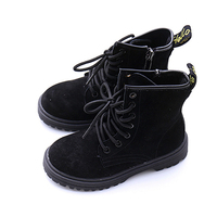 Autumn Children Fashion Boots Genuine Leather Kids High Heel Waterproof Warm Boats For Girls Boys Classical