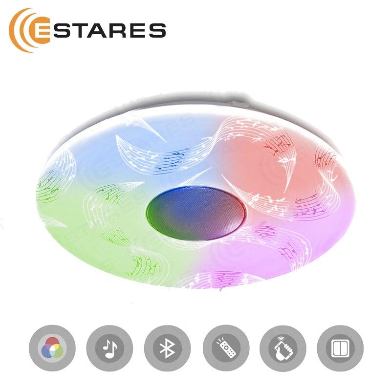 Controllabile HA CONDOTTO LA luce di soffitto un-play 60W RGB R-530-SHINY-220V-IP20 con la musica e il controllo smartphone Estares