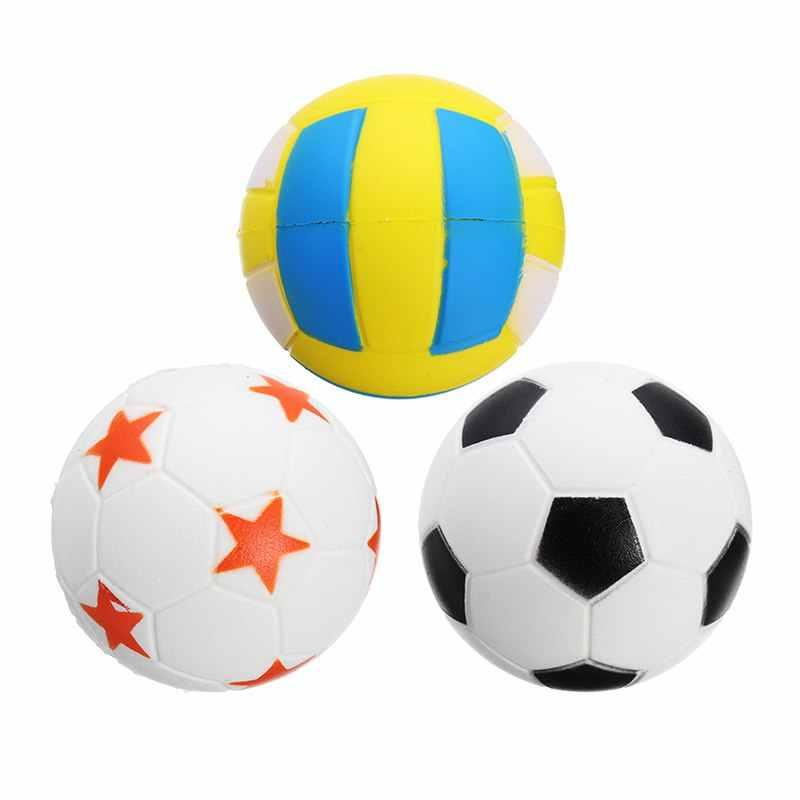 Jumbo fútbol voleibol para Squishy lento aumento lindo teléfono correas deporte pelota diversión chico juguete teléfono correas liberación estrés chico regalo