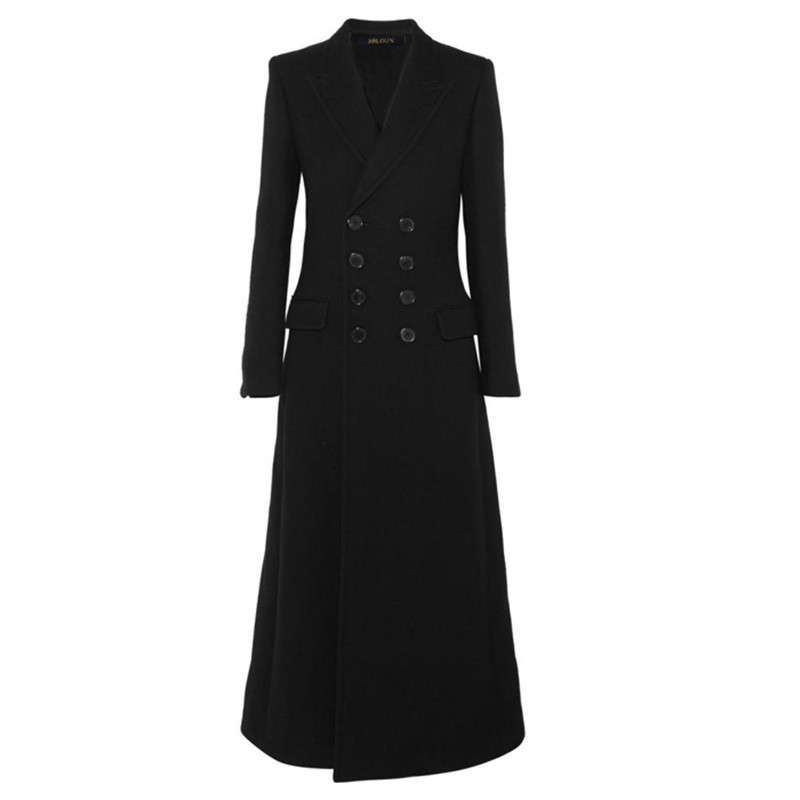 Simple Look Automne Hiver Casacos Cachemire Manteau De Femmes Femme Pardessus Long Maxi C71 Laine Femininos Noir 2018 Brun 1wt0xqw