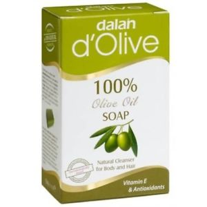 3x Dalan 100% Olive Oil Soap Natural 150g 5.3oz Natural Clean Hair Body