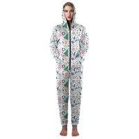 Lelijke Kerst Rompertjes voor Volwassenen Vrouwen Leuke Meisjes Xmas Pyjama met Xmas Garland Boom Print Kawaii Bijpassende Xmas Pyjama