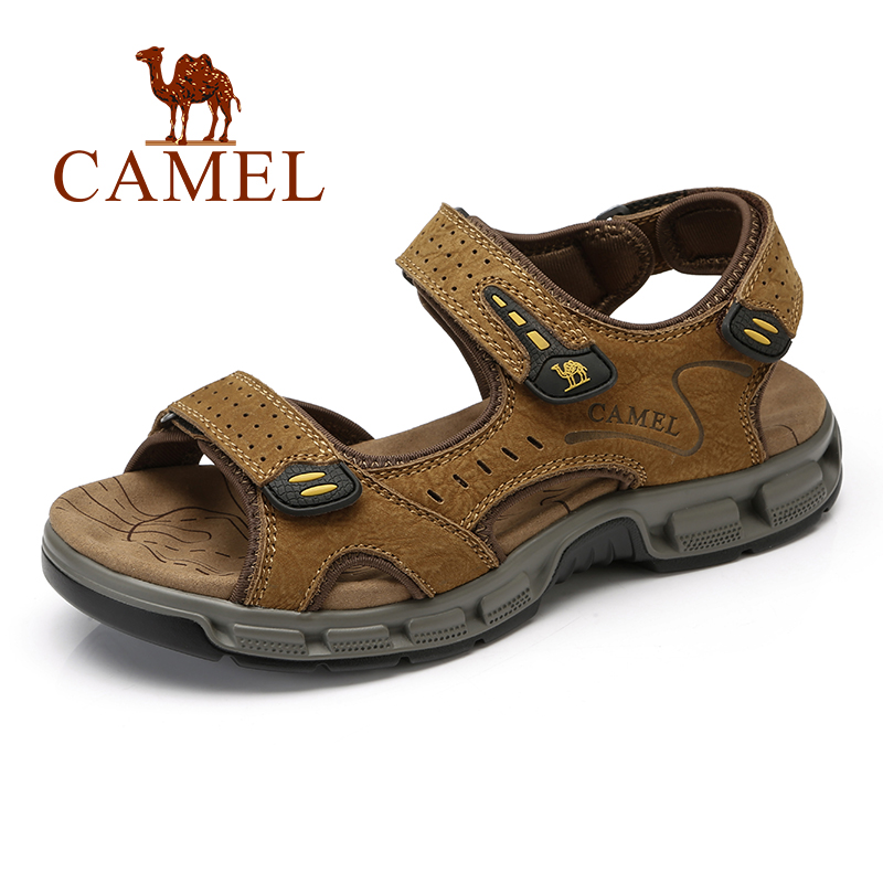 CAMEL Summer New Men s Sandals Beach Shoes Trend Genuine Leather Outdoor Breathable Men s Casual