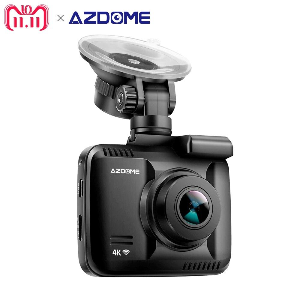 Azdome GS63H NOVATEK 96660 Car Dash Cam 4 k 2880x2160 p Traço Camera Construído em GPS Gravador DVR câmara de vídeo Com Wi-fi de Gravação de Loop