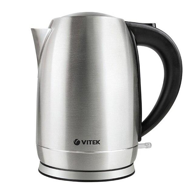 Чайник электрический Vitek VT-7033(ST) (Мощность 2200 Вт, объем 1.7 л, корпус из стали, вращение 360°, автоотключение)