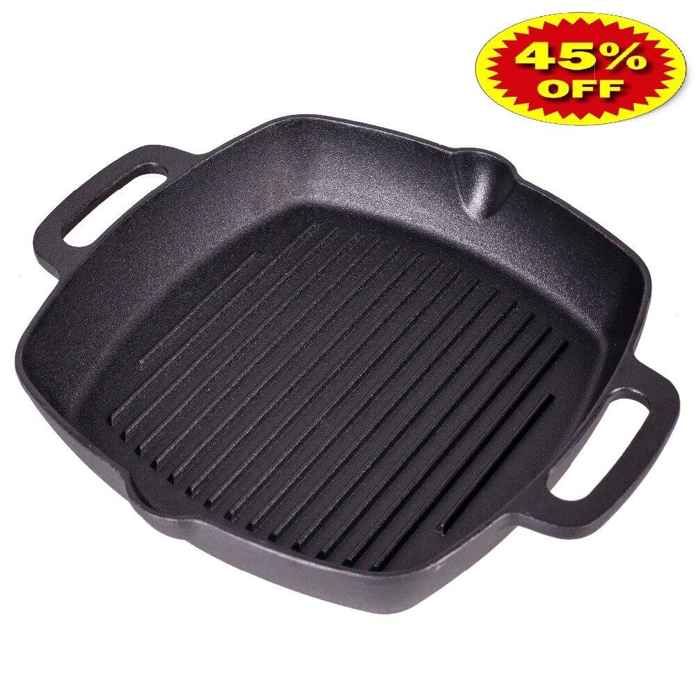 VETTA  GRILL CAST IRON Skillet Non-stick Frying Pan Grill Cast Iron 808-004
