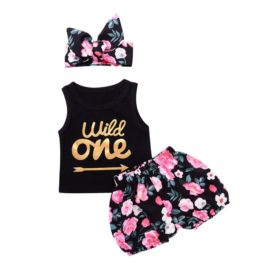 Pasgeboren zomer katoenen pakken Baby meisjes kleding Set Wild een - Babykleding - Foto 3