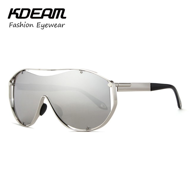 b2c430450c1 KDEAM Over Size Sunglasses Men Sport Metal Frame Party Brand Women Sun  Glasses Vintage Outdoor Mirror