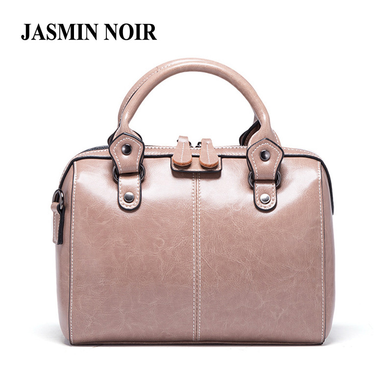 Real Cow Leather Ladies Women Genuine Leather Handbag Shoulder Bag High Quality Designer Luxury Brand Boston Crossbody Bag Totes safebet 2018 fashion shoulder bag high quality designer luxury women 100% genuine leather genuine leather waterproof handbag