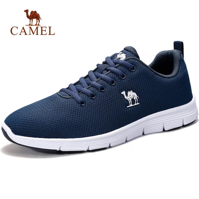 CAMEL Men Running Sport Shoes Fitness Gym Mesh Air Comfortable Sneaker Breathable Outdoor Lightweight Beginner Stability