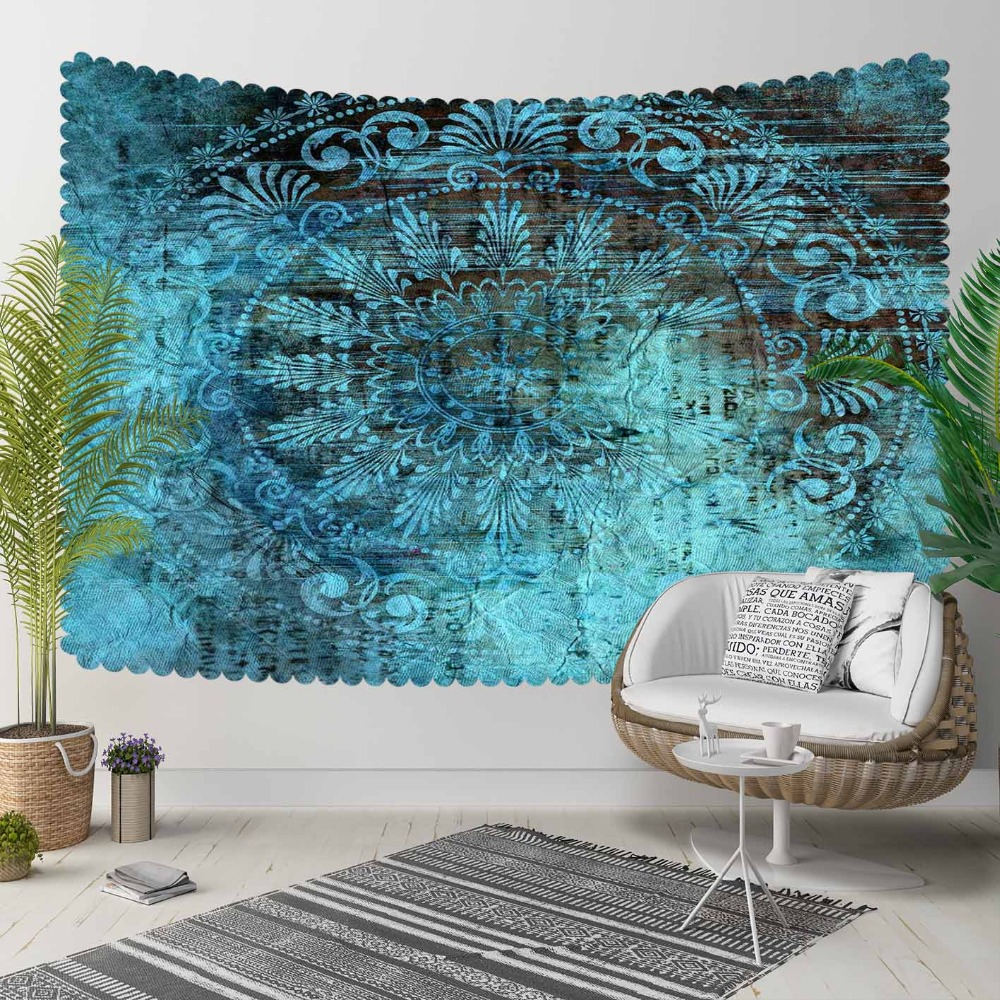 Else Green Retro Turkish Tradional Ethnic Design 3D Print Decorative Hippi Bohemian Wall Hanging Landscape Tapestry Wall Art