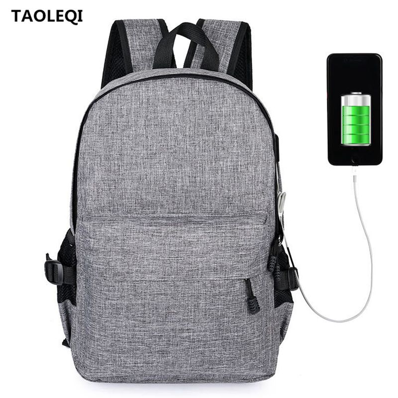 TAOLEQI Anti-theft Backpack Men Women Backpacks USB Charge Laptop Design Male Travel Backpack For School Bag Girls Boys Black sopamey usb charge men anti theft travel backpack 16 inch laptop backpacks for male waterproof school backpacks bags wholesale
