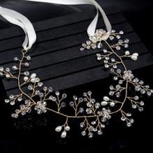Crystal Crown Bridal Hair Accessory Wedding Rhinestone Waterdrop Leaf Tiara Crown Headband Bridesmaid Hair Jewelry