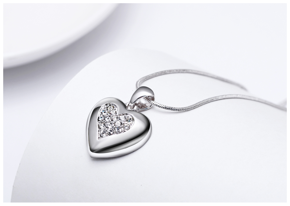 DreamCarnival 1989 Flash Deal Sales Party Jewelry parure Bijoux femme Pink Crystals Heart Pendant Necklace for Women 18N1019 16