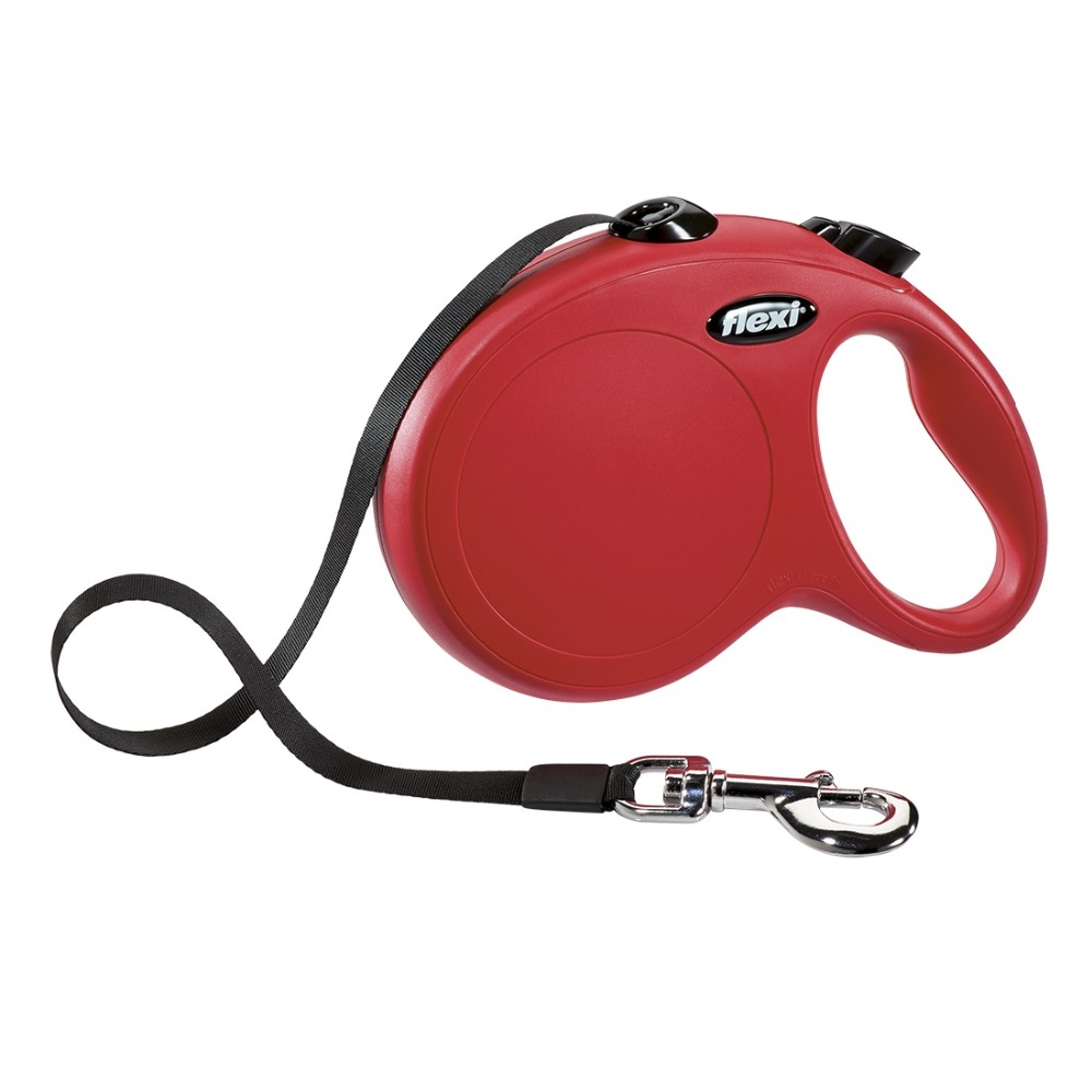 Lead tape measure Flexi for dogs New Classic L (up to 50 kg), tape, 5 m, red.  Dog Accessories 3 meter steel engineering pocket tape measure