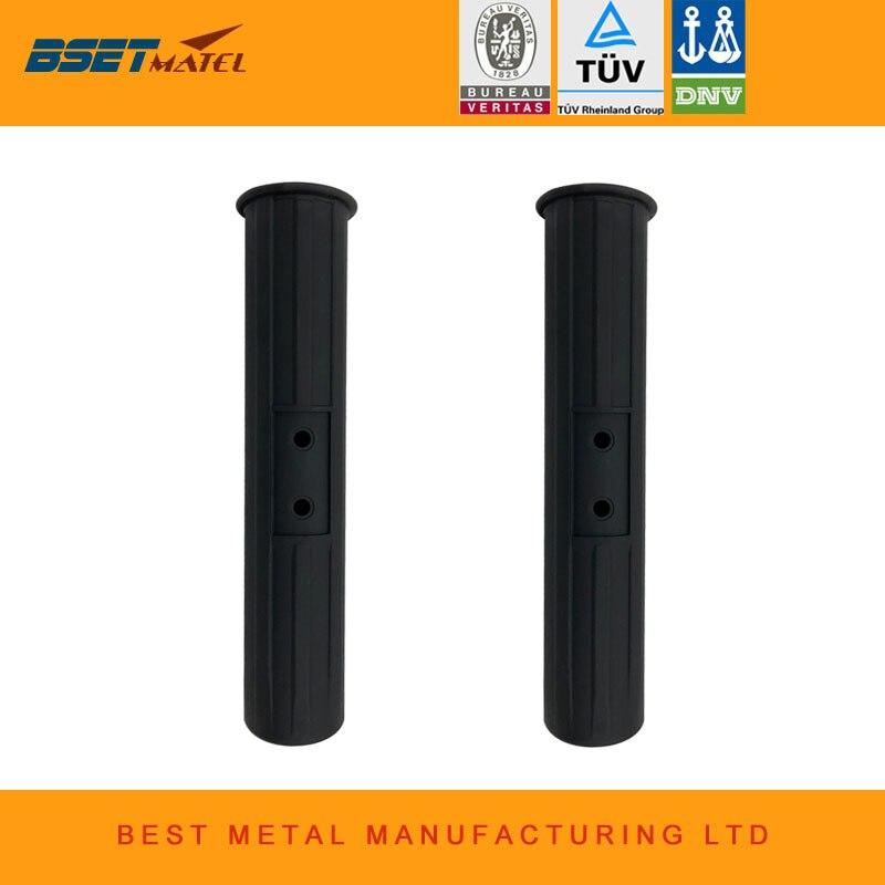 2 pieces 2018 New Black color Fishing Rod holder Inner Sleeve Rod Pod Nylon Plastic Tube Liner