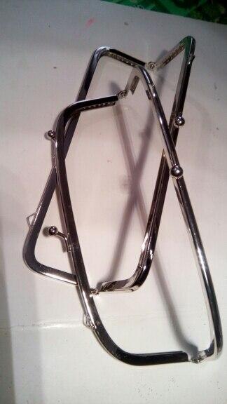THINKTHENDO Nieuwe zilveren handvat naaien handtas Munten Tassen Metalen Kiss Clasp Frame 15cm photo review