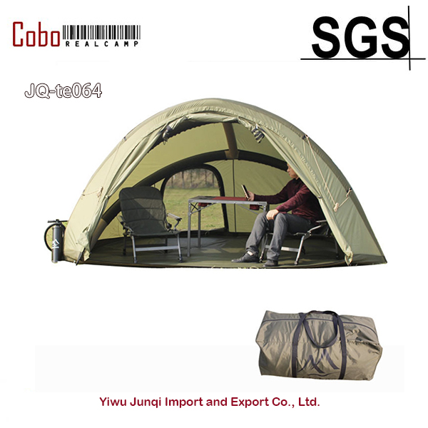 3-4 Person outdoor family inflatable canopy gazebo carp fishing family camping tube automatic air tent with zippered door