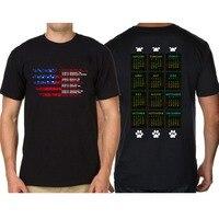 Laukexin Design T Shirts Dog Years Calendar Unite States Flag T Shirts T Shirt Mens Fitness