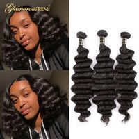 Loose Deep Wave Bundle 3 Pieces For Sale Brazilian Virgin Hair Loose Curly Wave Unprocessed Human Hair Extension Can Buy 1 4 PC