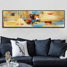 SD LINLEEHON Abstract Colorful Module Palette Landscape Oil Painting On Canvas Wall Art For Living Room Home Decor Unframed
