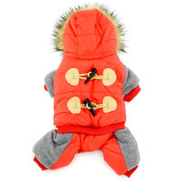 Pet Clothes For Small Dog Puppy Cat Fleece Horn Winter Coat Hooded Jacket Clothing