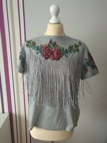 Для женщин кисточкой цветочным принтом Футболка винтажная красная роза футболки с круглым вырезом рубашки с коротким рукавом женская блузка повседневные узкие брендовые Топы dt42