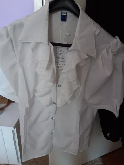 Purple White Summer Blouse Office Work Shirt Casual Tops Short Sleeve Shirts Plus Size 5Xl Women Blouses Chiffon Shirt Blusas photo review