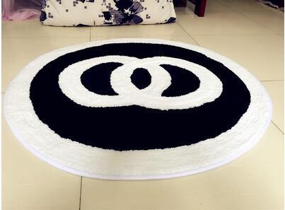 60x60 cm/70x70 cm/80x80 cm créatif chaud rose/noir chambre tapis salon sol tapis rose chaise tapis antidérapant décoration de la maison - 6