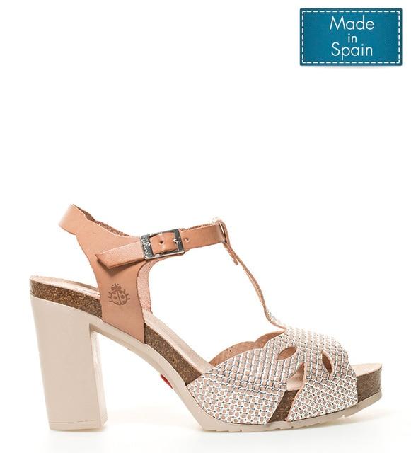 Yokono Malibu leather sandals 001 brown Heel height + platform  10cm ... c5de585c7