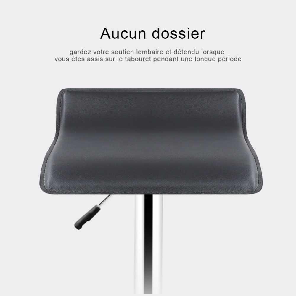 Горячая продажа 2 шт. Синтетическая кожа Регулируемый поворотный барный стул стулья пневматический сверхмощный счетчик Pub мебель для гостиной HWC