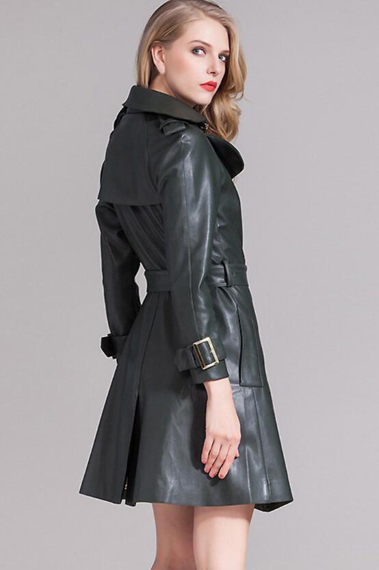 Long Vêtements Automne Femmes Style En Nouvelle 2018 Manteau Cuir Moutons Hiver Atrovirens Et wOxwqXSz4