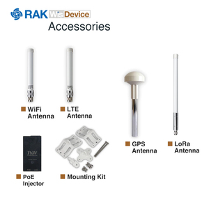 Image 5 - WisGate Puerta de enlace exterior RAK7249, inalámbrica, sistema operativo OpenWRT integrado, 16 canales, LoRa, 4G, WIFI, GPS y batería de repuesto