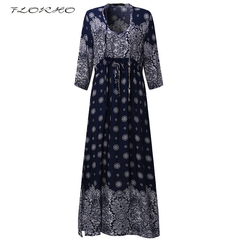 Women's Clothing Women Boho Half Short Sleeve Buttons Tie Dresses Plus Size Floral Print Vintage Beach Wear V Neck Long 5xl Maxi Dress Sundress Goods Of Every Description Are Available