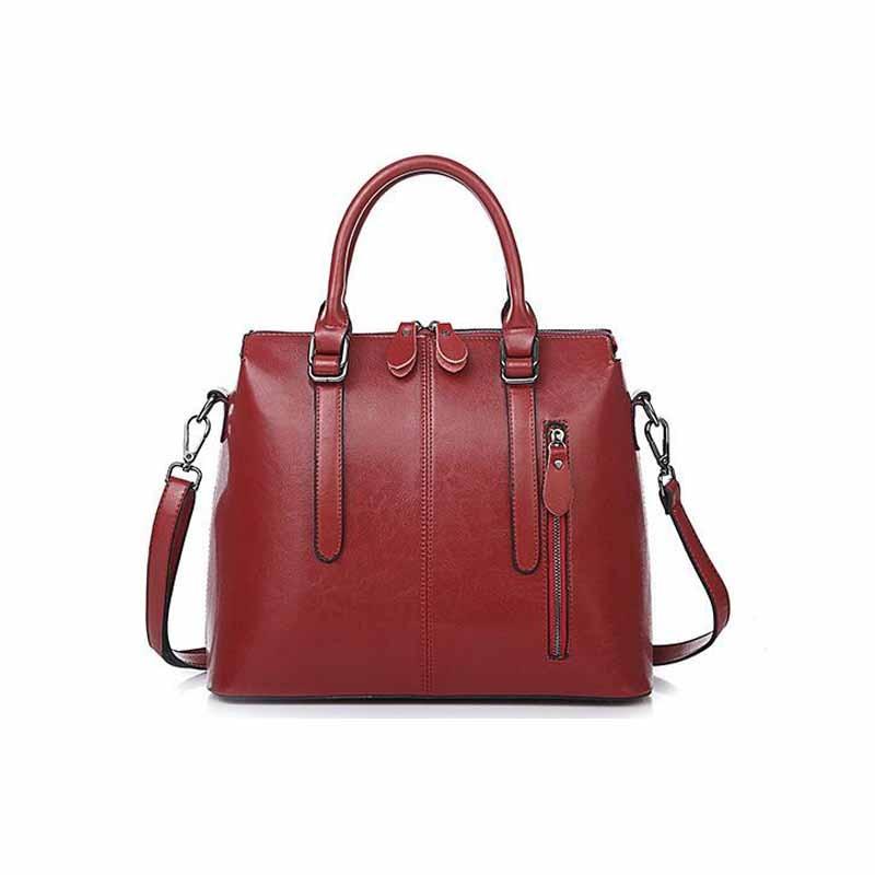 Nouvelle mode femmes split cuir sac à main dames sac à bandoulière femmes messenger sac-in Sacs à bandoulière from Baggages et sacs    1