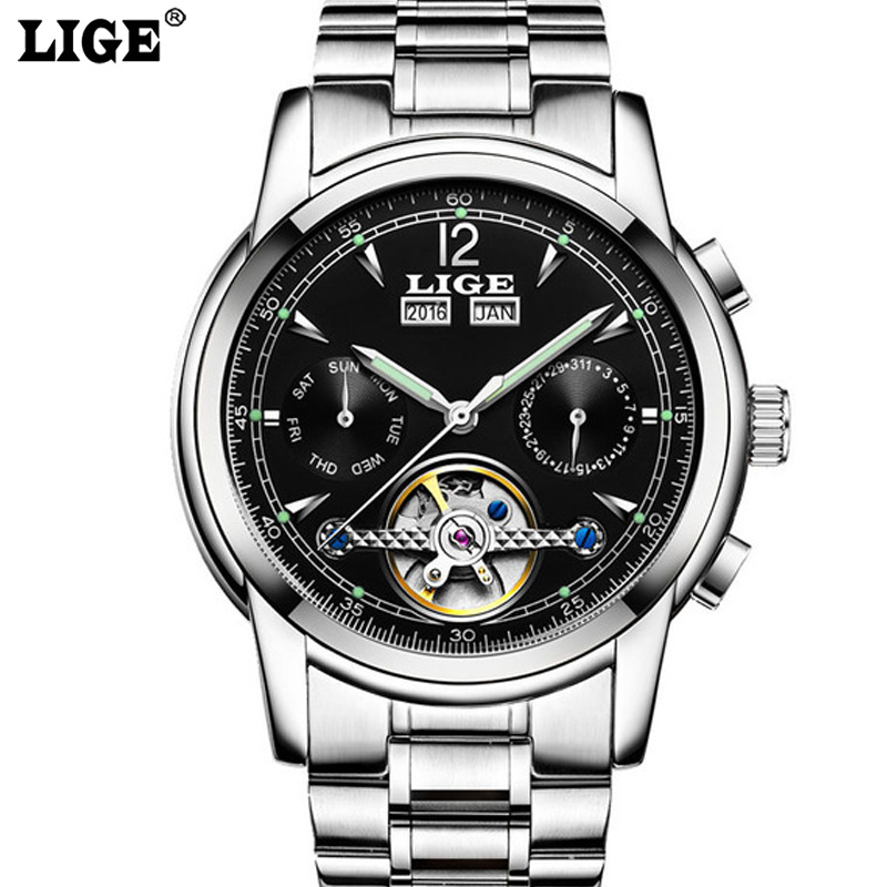 Mens High Quality Luxury Casual Automatic mechanical Watches Men Top Brand Luxury Business full steel watch Man Clock new business watches men top quality automatic men watch factory shop free shipping wrg8053m4t2