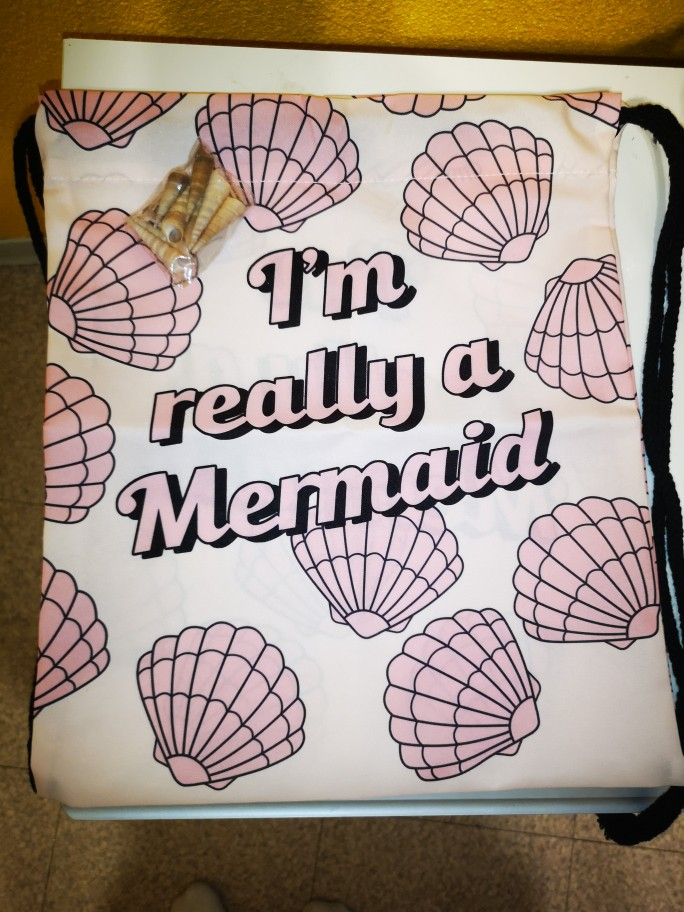 Really mermaid 2019 new fashion Women Backpack 3D printing travel softback women mochila drawstring bag  Girls Backpack photo review