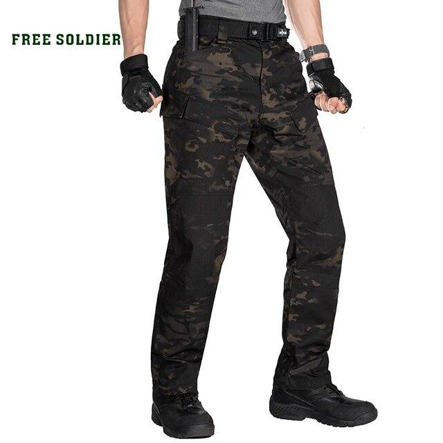 FREE SOLDIER спортивные штаны, мужские спортивные тактические камуфляжные брюки, военного стиля для занятий на открытом воздухе, для кемпинга, с несколькими карманами
