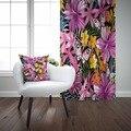Чехол-Подушка с фиолетовыми  белыми  желтыми цветами  цветочными бабочками и 3D принтом для гостиной  спальни