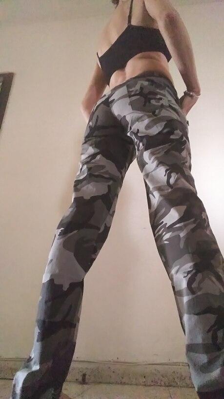 Women Casual Pants Summer Plus Size Jogger Pants Military Camouflage Women Pants Slim Fit Female Cotton Elegant Capris Gk-9522B