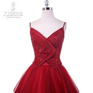 Image 4 - Платье для Homecoming из двух предметов, кружевное платье с кружевной аппликацией, расшитое вручную, на тонких бретельках, для выпускного бала, 2018, Robe De Soiree, Короткие праздничные платья