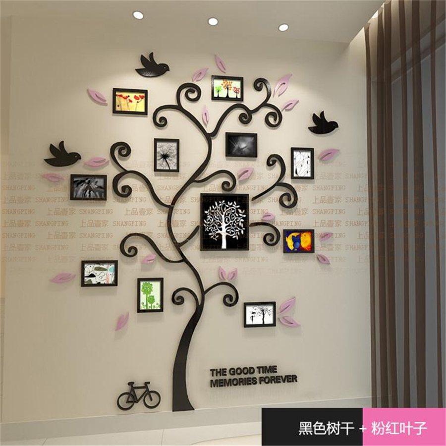 New Family tree photo frame Crystal Acrylic wall stickers 3D Three ...
