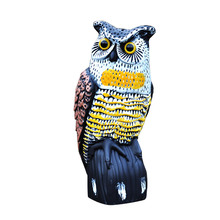 Realistic Bird Scarer Owl Decoy Pest Control Crow Scarecrow Lifelike Garden Yard Repeller