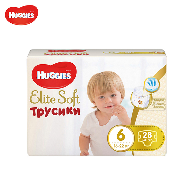 Трусики Huggies Elite Soft Mega Pack (6) 16-22 кг 28 шт.