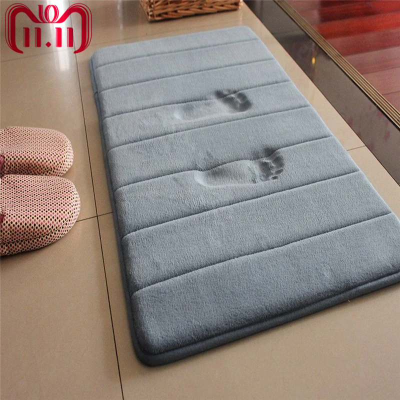40*60cm Bath Mat Bathroom Carpet Water Absorption Rug Shaggy Memory Foam Bathroom Mat Set kitchen Door Floor tapis salle de bain цена 2017