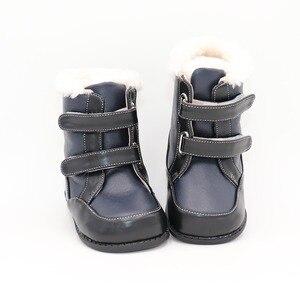 Image 4 - Tipsietoes 2020 새로운 겨울 어린이 맨발의 신발 가죽 마틴 부츠 키즈 스노우 보이즈 고무 패션 핑크 스니커즈